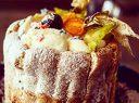 Детска торта от пандишпан с пресни яйца и ванилов и шоколадов му с надпис и кутия, от Сладост