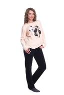 Плюшена дамска пижама с илюстрация на панда с 54% отстъпка - за 27.90лв, от Donbaron.bg