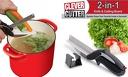 Кухненска ножица Clever Cutter 2в1 - нож и дъска за рязане, която улеснява работата