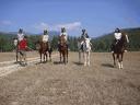 Почивка край Разлог! Нощувка със закуска и вечеря + 30 мин конна езда в Приключенска къща&конна база Русалиите