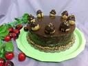 Неустоима торта с какаов крем, какаови блатове, надпис по избор, от Сладкарница Черешка