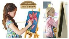 Пълноценно и разнообразно занимание за вашето дете! Урок по рисуване за деца между 4 и 12 години - 1 астронимически час само за 5лв, от Галерия Европа