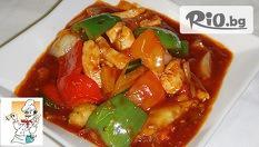 Пиле ТАЙ /700 гр./ + задушен бял ориз или картофено пюре /300 гр./ само за 12.80лв, от Кулинарна къща Ники