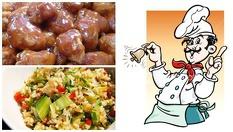 Пилешки хапки в сладко кисел сос /800 гр./ + задушен ориз със зеленчуци /400 гр./ само за 13.80лв, от Кулинарна къща НИКИ