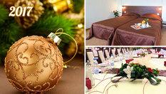 НОВА ГОДИНА в Русе! 1 или 2 Нощувки + Празнична вечеря и Брънч на 1 Януари на цена от 187лв, в Хотел Теодора Палас 3*
