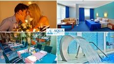 За Деня на влюбените в Бургас! 1, 2 или 3 нощувки със закуски и празнична вечеря, плюс SPA с топъл вътрешен басейн на цена от 59лв, от Хотел Аква***