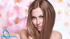 Сметана за коса - млечни протеини за блясък и красота за сухи и увредени или естествени и боядисани коси чрез ултразвукова и инфрачервена преса без нагряване + подстригване по желание от 19.90лв, от Верига Дерматокозметични центрове ЕНИГМА