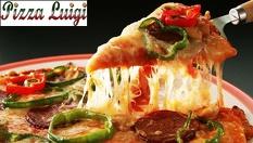 Семейна пица XXL за ВКЪЩИ - диаметър 60см, тегло 2100гр, разпределена в 10 парчета само за 12.50лв, от Пицария Луиджи