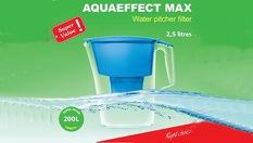 Кана за филтриране и пречистване на вода Акваефект Макс 2.5 литра + филтър - за 12.90лв или Филтър за пречиствателна кана акваефект В100-25 - за 6.90лв, от АКВАФОР - България