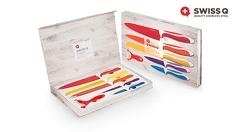 Подарък за Коледа! Комплект стоманени ножове с керамично покритие Swiss Q - за 34.90 лв, от АВИ Трейдинг Груп
