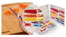 Подарък за дома! Комплект стоманени ножове с керамично покритие Swiss Q - за 34.90лв, от АВИ Трейдинг Груп