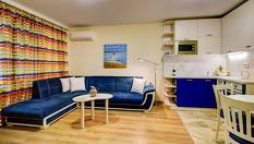 В Поморие през лятото /важи и за празниците/! Нощувка в едноспален апартамент за до четирима, от Апартаменти за гости Sea Garden Apart на 100м. от плажа
