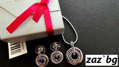 Комплект бижута в цвят по избор с австрийски кристали + подаръчна опаковка на цени от 11.90 лв, от Онлайн магазин Zaz.bg
