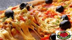 """Две големи и една малка пица + три соса по избор само за 17 лв. от Пицария """"Дон Домат"""", Манастирски ливади"""