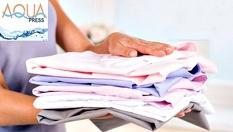 Химическо чистене и гладене на дрехи по избор само за 8.40 лв. от Aqua Press