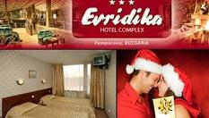 """Коледа в Пампорово! 40 лв. на човек за 1 нощувка със закуска и вечеря, плюс закрит басейн и фитнес, от Хотел """"Евридика"""""""