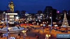 """Нова година в Скопие! 259лв на човек за 2 нощувки със закуски + Новогодишна вечеря на шведска маса в Хотел """"Континетал""""3* + транспорт, от Дениз Травел"""