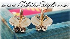 """Нежни обеци """"Пеперудки""""с кристали Swarovski /в цвят по избор/ или Колие """"Рибка""""с многоцветни кристали Swarovski от 4.99 лв, от Онлайн магазин за бижута Sibila Style"""