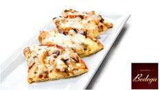 За ценителите на испанската кухня! Пинчитос с мариновано свинско филе + Пита с гъби и микс от сирена - за 7.99лв, от Ресторант Bodega