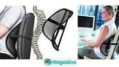 Анатомична облегалка за стол и автомобилна седалка Lumbar Support - за 8лв, от Magazinabg.com