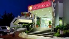 Релакс в Сандански! Нощувка със закуска и вечеря за ДВАМА + перлена вана и сауна, от Хотел Панорама 3*