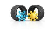 Смяна на 4 бр. гуми на лек автомобил 13 - 14 цола + външно измиване от 15.50лв, от Автокозметичен център Авто Макс