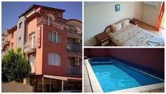 Изгодна почивка в Равда през Август и Септември! Нощувка + басейн, от Хотел Денис