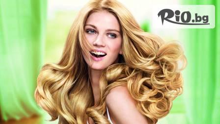 Луксозна Диамантена терапия за коса за 9,90 лв. със серия Semi Di Lino Diamante на Alfaparf Milano от Студио Жанет + Подстригване + Оформяне на прическа + Стилизиране