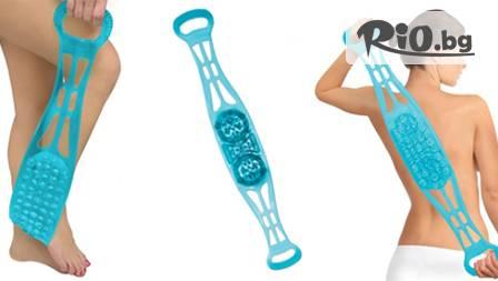 СПА удоволствие в банята със силиконов масажор Sided Bath Scrubber за 13.99 лв. от Magazina.me