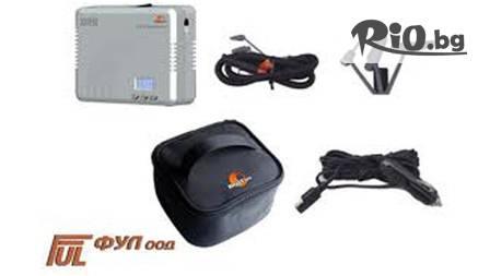 Автомобилен компресор с цифров манометър и авто-стоп за 32,50 от ФУЛ ООД! Сигурност на пътя!