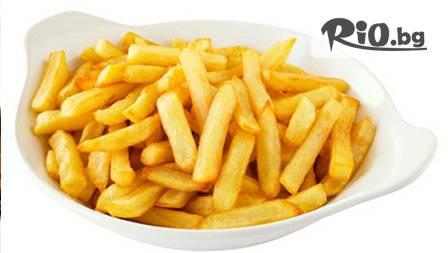 800 гр. пилешки крилца + килограм пресни пържени картофи + 2 бири или 2 чаши вино за 11.90 лв в Ресторант Водолей
