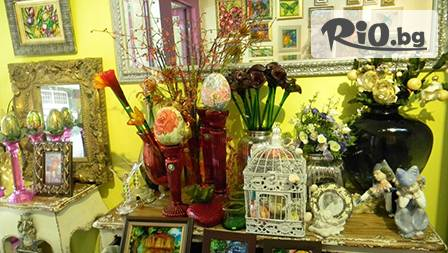 Ръчно изработени цветя от стъкло - пепeруда, калия или петуния за 11,99 лв. от Галерия