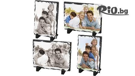 Сърдечен подарък за теб или приятел - щамповане на снимка върху каменна рамка за 14, 99 лв.