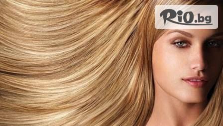 Ламиниране на косата с инфраред преса + оформяне на прическа за 18,90 лв.