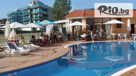 Почивка през Септември в Слънчев бряг! Нощувка в луксозно студио или апартамент + външен басейн с минерална вода, от Апартхотел Касандра