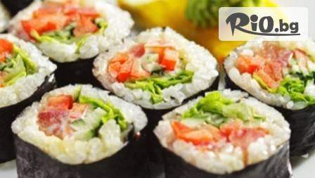 Happy херинга - Вип суши сет от 46 хапки.Пет екзотични вида само за 19,90 лв. от Сушито на Варна!
