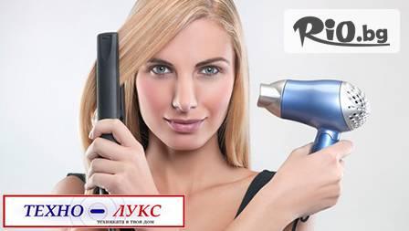 Керамична преса за коса с термо регулатор + сешоар само за 32,80 лв. oт Техно Лукс