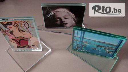 Луксозна стъклена поставка за снимка за 13,99 лв. - за модерния дом или офис от Glass Time