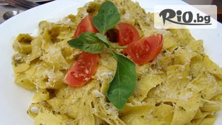 Вкусна италианска паста, свежа салата и чаша вино за 7,50 лв. от Pizza e Pasta