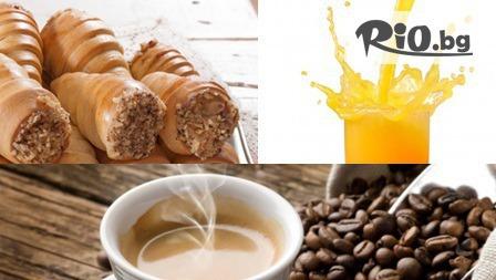 Фреш /250мл/ + кафе еспресо + вкусна шоколадка само за 3.39лв, от Кафе Мелани - в центъра на Пловдив