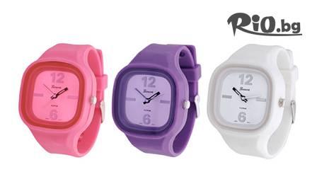 В час с модата! Цветен Силиконов часовник - унисекс за 8.99 лв