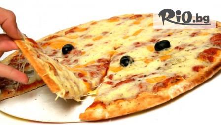 1 или 2 големи пици по избор + 2 соса на цена от 6лв, в Pizza and Dinner Луиджи! Вземи на място или поръчай за вкъщи