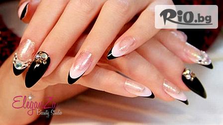 UV гел или Акригел върху естествени нокти + лак O.P.I и декорации по избор от 10.99лв, от EleganZa Beauty Studio