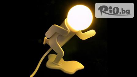 Светещ атлет! Бягаща нощна лампа с мека светлина, подходяща и за малки деца само за 9.00 лв. от www.kaya-originalnipodaraci.com
