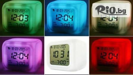 Светещ LED часовник с будилник и термометър за 6.99 лв. от magazinabg.com