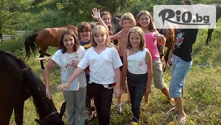 Незабравим рожден ден с конна езда и аниматори за 11,99 лв на дете от конна база