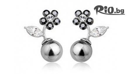 Обеци с бели или черли перли и 18К златно покритие за 9,90 лв. от Modelatojewels