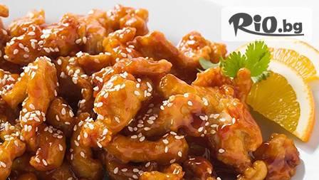 Основно с пилешко или свинско филе + свежа салата само за 5,90 лв.Хапни вкусно 0,600 гр. кулинарни изкушения в
