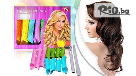 Изкусителни вълнообразни къдрици с ролки за коса Magic Leverag за 6.99 лв от www.ang-tv.com