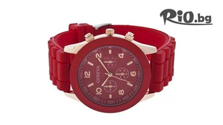 Стилен унисекс часовник Geneva в актуални летни цвята само за 9.90 лв. от Fashion Gift